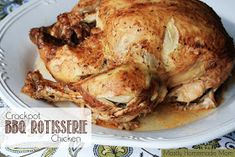 Mostly Homemade Mom: Crockpot BBQ Rotisserie Chicken
