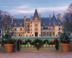 Vanderbilt's Biltmore Estates in Asheville, NC. So stunning! We've been a few times...I never get tired of it. Christmas is gorgeous here. It's America's very own Downton Abbey! Lol (jm)