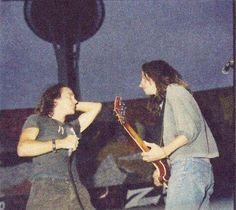 Eddie Vedder and Stone Gossard