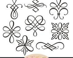 Instant Download calligraphie ornements par CandyShopDigitalArt