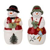 Found it at Wayfair - Christmas Tree Figural 2 Piece Mr. and Mrs. Snowman Salt and Pepper Set