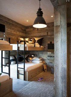 Loft bed in the nursery 100 cool bunk beds for kids Jugendzimmer für Teenager Bunk Beds Built In, Modern Bunk Beds, Cool Bunk Beds, Kids Bunk Beds, Loft Beds, Decoracion Vintage Chic, Bunk Rooms, Bunk Bed Designs, House Design