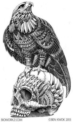 Wallpaper - Zentangle Animals Ornate Animals Tagged at jatmiko. Skull Tattoos, Animal Tattoos, Body Art Tattoos, Sleeve Tattoos, Tatoo Art, Tattoo Drawings, Cool Drawings, Sun Conjunct Pluto, Bild Tattoos