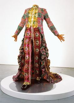Yinka Shonibare. Fabulous fabulous suit of African fabrics. A celebration in a suit.