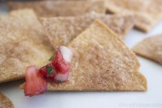 Homemade Cinnamon Tortilla Chips are the perfect crispy treat to satisfy those churro cravings! These easy homemade cinnamon chips cookquickly. Cinnamon Sugar Tortillas, Cinnamon Tortilla Chips, Homemade Tortilla Chips, Cinnamon Chips, Homemade Tortillas, Strawberry Salsa, Condensed Milk Recipes, Mexican Cooking, Churro