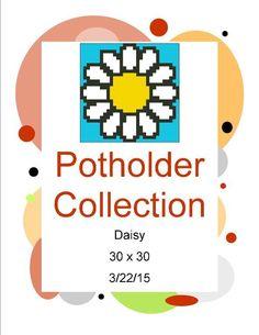 (4) Name: 'Crocheting : Daisy Potholder Pattern