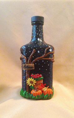 1 million+ Stunning Free Images to Use Anywhere Old Wine Bottles, Wine Bottle Art, Glass Bottle Crafts, Painted Wine Bottles, Diy Bottle, Decorated Bottles, Plastic Bottles, Bottle Lamps, Altered Bottles