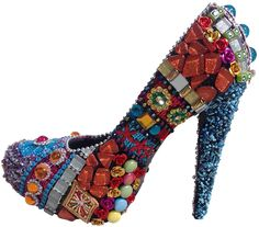 Mosaic Shoe Project - Learn How To Create a Mosaic Using Plaster Cloth & Your Imagination – The Mosaic Store