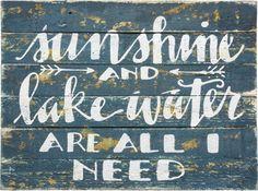 Sunshine and Lake Water Sign - Gin Creek Kitchen