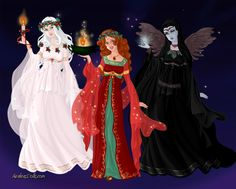 Ghosts of Christmas Past, Present and Yet To Come by Saphari.deviantart.com on @DeviantArt