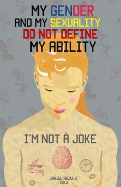 I'm not a joke #imnotajoke #samelove #art #illustration #danielarzola #lgbt #websista