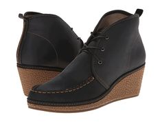 OluKai Wali Wedge Leather Black/Tan - Zappos.com Free Shipping BOTH Ways