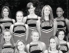 Pin for Later: You Might Not Recognize These Stars in Their Yearbook Pictures Brooklyn Decker The actress, top center, wore a Bulldogs cheer uniform before taking on the runway. Source: Seth Poppel/Yearbook Library