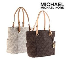 Michael Kors Jet Set East & West Signature Tote - Assorted Colors | nomorerack