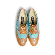 eu.Fab.com | Oxford Shoes Wmns Brown Blue LOVE