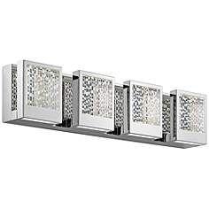 "Elan Pandora 24"" Wide Chrome LED Bath Light"
