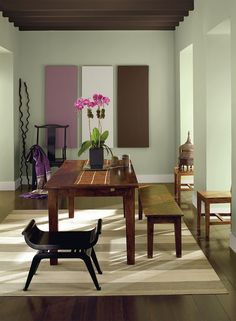Benjamin Moore Guildford Green Color Of The Year 2015 Dining Room