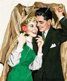 Vintage pulp art, pin-up, movie posters & ads. Romance Vintage, Romance Arte, Vintage Love, Vintage Ads, Vintage Prints, Vintage Posters, Pin Up, Vintage Pictures, Vintage Images