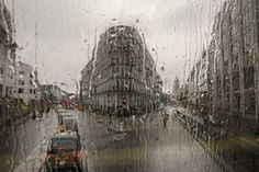 """George Georgiou """"Last stop"""", vue d'un bus londonnien."""