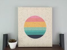 SO PRETTY! imogen sunset wall art ready to hang mounted print
