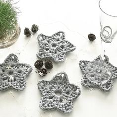 Christmas Star Coasters - Set of 4 | Felt
