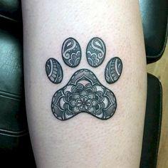 43 Most Beautiful Paw Print Tattoos Ideas