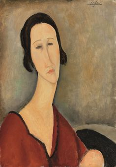 Amedeo Modigliani, Madame Hanka Zborowska (1917). Estimate: £5,000,000 - 7,000,000 Price Realized: £8,258,500. Courtesy of Christie's.