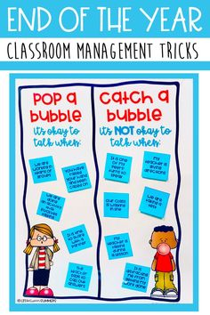 The end of the school year can be tough for both students and teachers. Everyone is ready for summer and that means student behaviors can start to drop. In this post, I share my top end of the school year classroom management tips and tricks. Some of my favorite classroom management hacks are catch a bubble and using visual voice levels. These are both great classroom management tools. Also doing whole class rewards or individual student rewards is another great way to keep students on task.