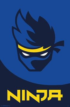 Trends International Ninja - Logo Wall Poster, x Barnwood Framed Version Ninja Wallpaper, Go Wallpaper, Poster Wall, Poster Prints, Ninja Logo, Epic Games Fortnite, Gaming Wallpapers, Barn Wood Frames, Cute Pokemon