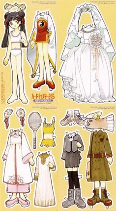 kalei1412:  astari25:  Mei Lin Card Captor Sakura by Clamp. 2nd paper doll with outfit  a kisekae set for Meilin, coming from Card Captor Sakura LD or DVDs volume 12 BCBA-0286