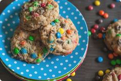 triple threat cookies ... chocolate chips, coconut, and mini chocolate candies: chewy, chunky, and delicious!