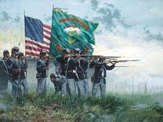On This Day: Infantry Regiment 'Fighting Irish' is founded in 1849 Military Art, Military History, Civil War Art, Union Army, Western Union, America Civil War, America America, Civil War Photos, Historical Art
