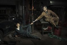 mechanics in their workspace as the figures in great works of Renaissance art