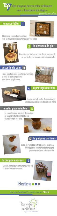 "7 moyens de recycler utilement vos ""bouchons de liège"""