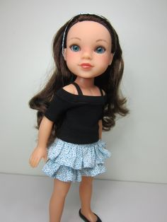 Hearts 4 Hearts doll clothes Black boatneck top by JazzyDollDuds,