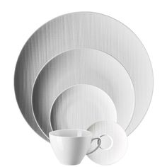 Buy 5 Piece Place Setting (5 pps), Mesh White from Rosenthal Online Store. Premium dinnerware and fine china made in Germany. Free shipping over $99.