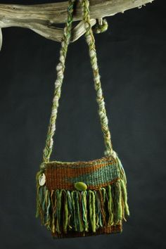 Arroyo Seco Hand Woven Art Purse With Hand spun Yarn