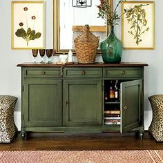 distressed green sideboard - Google Search