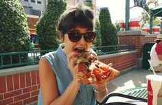Pizza time! Universal Studios, Los Angeles, California.