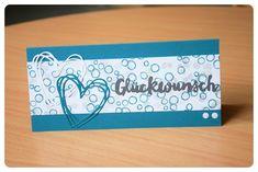 Herzlich Willkommen beim Papierfräulein: Gutschein-Karten Stampin Up, Playful Backgrounds, Grüße voller Sonnenschein
