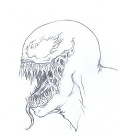 Venom head sketch by on DeviantArt Drawing Cartoon Characters, Comic Drawing, Character Drawing, Cartoon Drawings, Pencil Art Drawings, Cool Drawings, Drawing Sketches, Avengers Drawings, Spiderman Drawing