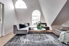Saving space and fully functional attic apartment in Stockholm