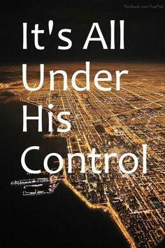 it's under His control