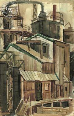 Raymond Cuevas - Factory, 1959