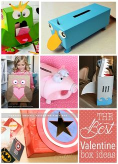 This is full of ideas for the perfect Valentine Boxes that your kids can take to their Valentine party at school. DIY one with your kids helping