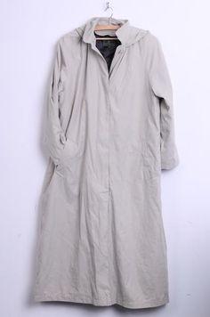 Gianfranco Corneli Womens 16 XL Long Coat Raglan Sleeve Mac Hood Beige Padded  Vintage - RetrospectClothes