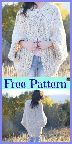 10 Beautiful Knit Blanket Sweater Free Patterns More from my siteThis sweater is so beautiful and airy. I wish they had shown an image of it on …Beautiful Warm Thick Vegan Handmade. Sweater Knitting Patterns, Loom Knitting, Knitting Designs, Free Knitting, Knit Patterns, Baby Knitting, Blanket Patterns, Knitted Blankets, Crochet Clothes