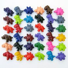 Etsy Wednesday: Recycled Crayons, the Best Party Favors a Kid Could Ask For #etsy #recycled #eco_friendly #kids #dinosaurs