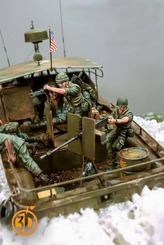 Scale Model Ships, Scale Models, Military Diorama, Military Art, Diorama Militar, Brown Water Navy, Good Morning Vietnam, 30 Day Drawing Challenge, Military Action Figures