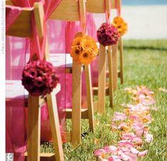 Real Weddings - Kimber & Johnny: A Beach Wedding in San Diego, CA - The Ceremony Decor Yellow Wedding Flowers, Orange Wedding, Wedding Colors, Fuschia Wedding, Sun Flowers, Orange Flowers, Spring Wedding, Diy Wedding, Wedding Ideas